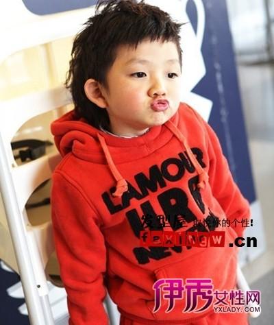 韩国范可爱小男孩发型图片