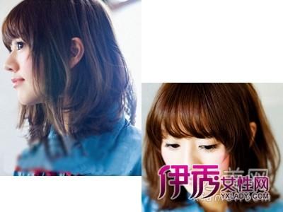 齐刘海卷发梨花头 秋季圆脸最合适发型