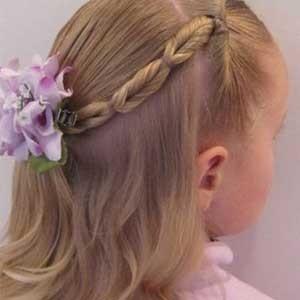 儿童发型绑扎方法